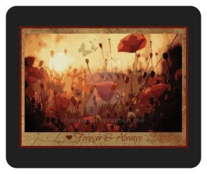 Unique Forever and Always Poppies Mouse Mat by sevvysgirl