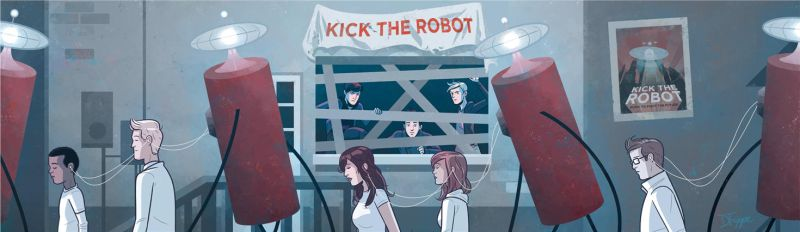 Kick the Robot, album art interior by dryponder