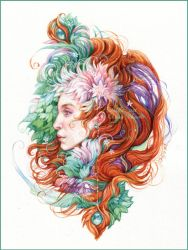 May dryad by DalfaArt