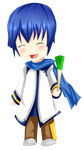 Collab : Kaito with leek :P by chalollita
