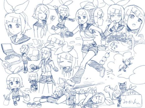 Rin-chan doodles by grimay
