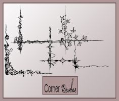 Corners photoshop brushes by AmeliaLune