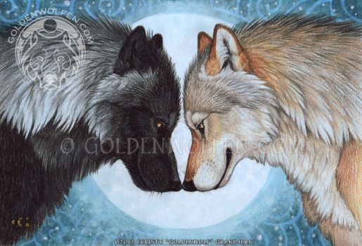 Moon Mates by Goldenwolf