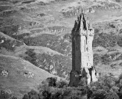 Wallace Monument Monochrome by BusterBrownBB