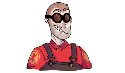 little doodle of engi by snowdustOWO
