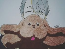 Victor and Makkachin by MeowImAvery