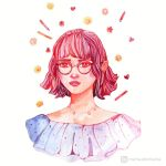 Girl with pink hair by mia-sko