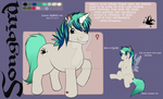 My Little Pony Oc/ Ponysona Songbird by Wonderlandawaitsus