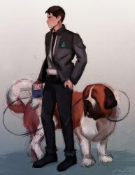 Connor with Sumo by EnotRobin