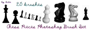 Chess Piece Brushes by punkdoutkittn