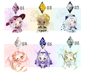 ADOPTS: Flower ladys [5/6 OPEN] by Mewpyonadopts