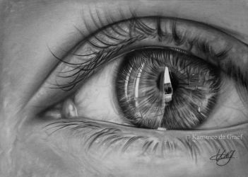 Eye drawing by kansineedegraefart