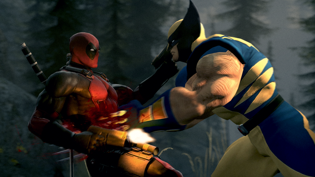 Deadpool vs. Wolverine by Name-Changer