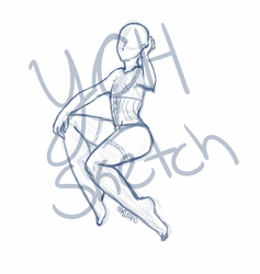 [Closed] YCH Pin Up Sketch by HakoWako