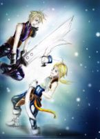 Cloud vs Zidane: DISSIDIA by luzzy