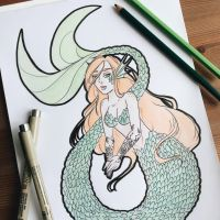 Mermay 2018, day 2 by lulawolves