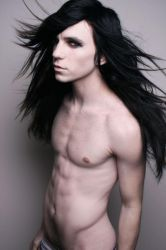 hot long haired black guy by CroftMan93