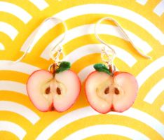 Apple Earrings Update by KawaiiCulture