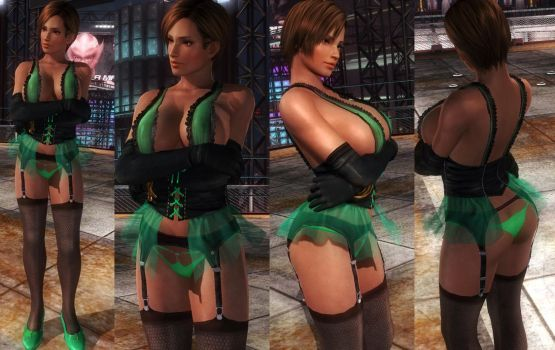Lisa Corset Green Underwear by funnybunny666