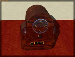 Wooden Clock by JohnK222