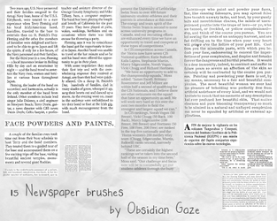 Newspaper Brushes by seline-bennet
