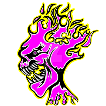 Flaming Head Pink by sookiesooker