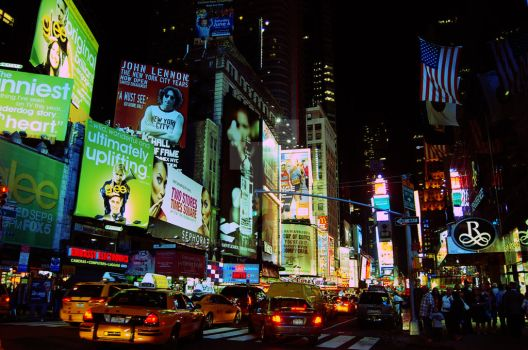 New York Night City Life by jinhuang
