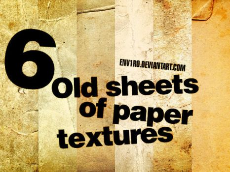 6 Old sheets of paper textures by env1ro