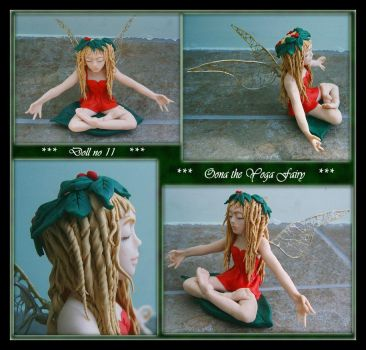 Oona the Yoga Fairy Doll OOAK by Forestina-Fotos