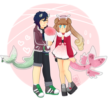 [c] - Cthonicsquid [fullbody couple] by hello-planet-chan