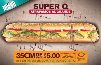 Quiznos Super Q Flyer by negro81