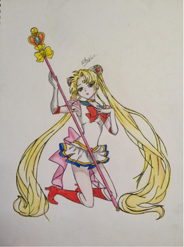 Sailor Moon Sketch by NeonNix