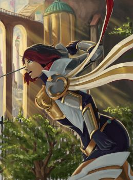 League of Legends : Fiora Comic Cover by FarahBoom