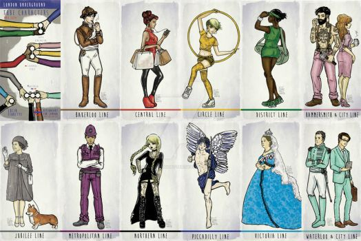 London Underground Tube Characters by BelialMadHatter