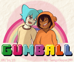 Gumball and Darwin by SangoSlayer299