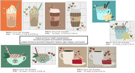 Five Delicious Coffee Patterns by pinkythepink