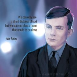 Alan Turing by Magali-Mebsout