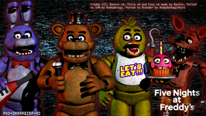 FNAF 1 Rynfox Vlast Official Blender port by AndyDatRaginPurro
