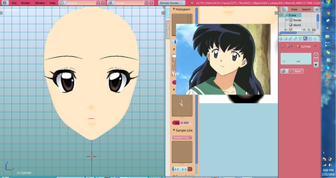 [MMD WIP] Commission Kagome face by DeidaraChanHeart