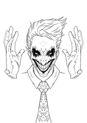Joker- sketch by volokine