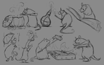 Rat Sketches by DawnFrost