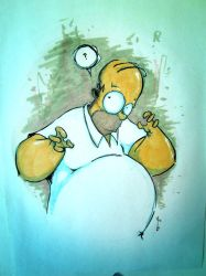 homer commission drawing GCT Germany by NoahWhyler