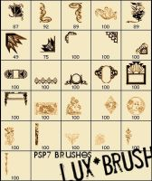 Art Deco Brushes - Pack by luxbella