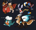 Plushie dragons adopts Flatsales(open) by Winelys-11Adopts