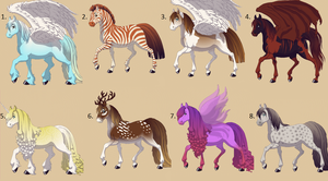 Horse Adoptables by SilverWingedAdopts