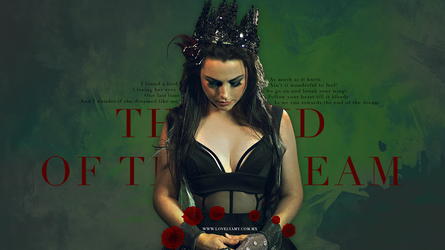 Evanescence The End Of The Dream Wallpaper by lovelyamyweb