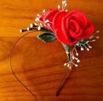 Red Rose Headband by Craftcove