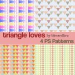 Triangle Loves: Triangle Patterns by blessedliez