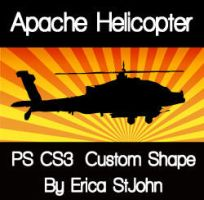 Apache Helicopter PS CS3 Shape by estjohn