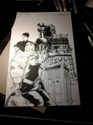 10th Doctor Who David Tennant Print WIP by chris-foreman